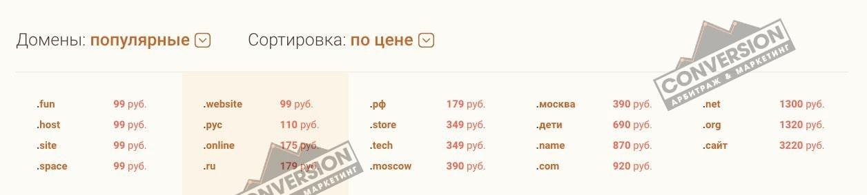 где купить домен для сайта