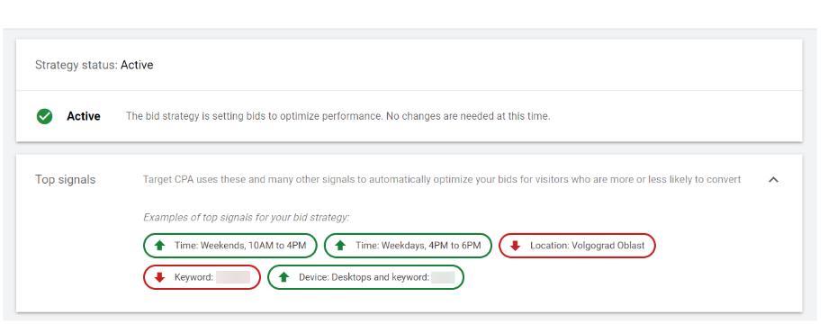 автоматические стратегии Google Ads